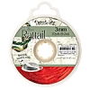 Rattail Cord 3mm 10 Yds With Re-useable Bobbin Red